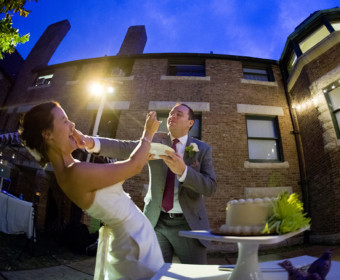 outdoor cake cutting
