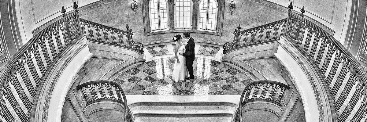 award winning black and white wedding image at Lake Forest Academy